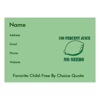 Juice No Seeds Large Business Cards (Pack Of 100)