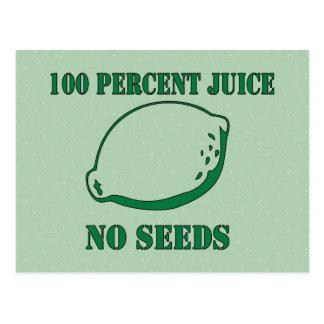 Juice No Seeds Postcard