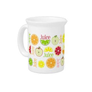 Juice Pitcher - Apple Orange Lemon Lime Grapefruit