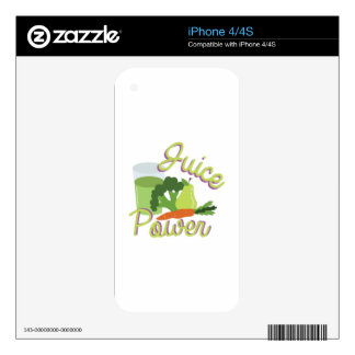 Juice Power Decals For iPhone 4