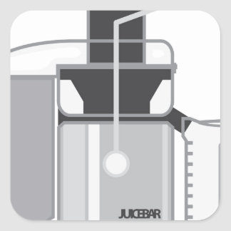 Juicer vector square sticker