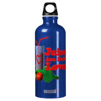 Juicers are better lovers by Valxart.com Aluminum Water Bottle