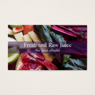 Juicing Nutritionist Food and Diet Health Business Card