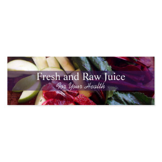 Juicing Nutritionist Food and Diet Health Double-Sided Mini Business Cards (Pack Of 20)