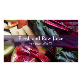 Juicing Nutritionist Food and Diet Health Double-Sided Standard Business Cards (Pack Of 100)