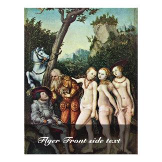 Juicio de París por Cranach D. Ä. Lucas (el mejor  Tarjeton