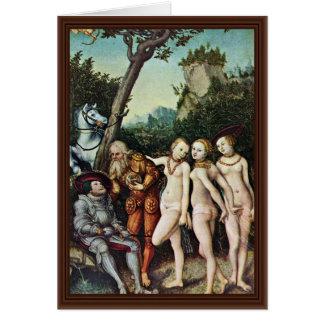 Juicio de París por Cranach D. Ä. Lucas (el mejor  Felicitaciones