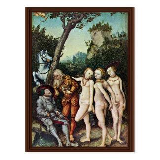 Juicio de París por Cranach D Ä Lucas el mejor Tarjeta Postal