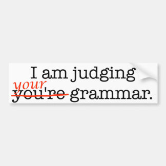 Juicio de su gramática pegatina para coche