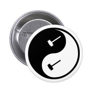 Juicio de Yin Yang Pin Redondo 5 Cm