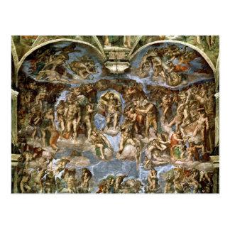 Juicio pasado, de la capilla de Sistine, 1538-41 Postal