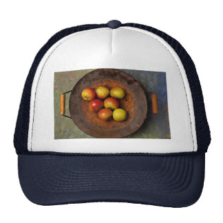 Juicy Apples in wok Hats