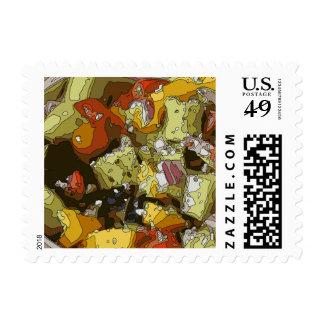 Juicy Cucumber Tomato Chop Salad Postage Stamps