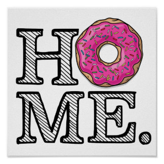 Juicy Delicious Pink Doughnut House Warmer Poster