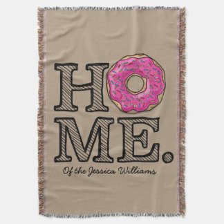 Juicy Delicious Pink Doughnut House Warmer Throw Blanket
