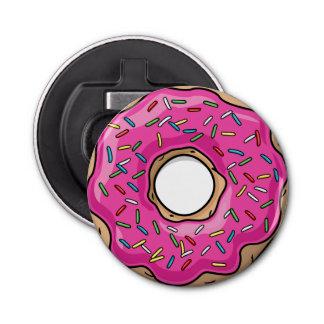 Juicy Delicious Pink Sprinkled Donut Bottle Opener