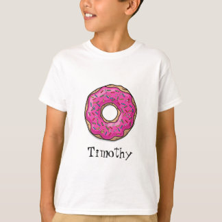 Juicy Delicious Pink Sprinkled Donut T-Shirt