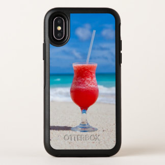 Juicy Drink on Tropical Beach OtterBox Symmetry iPhone X Case