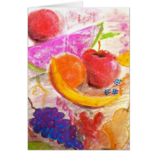 Juicy Fruit Note Card in Pastel by Brad Hines