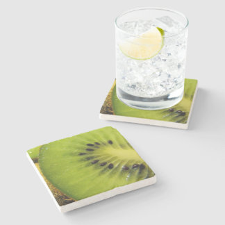 Juicy Green Fruity Kiwi - Stone Coaster
