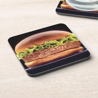 Juicy Hamburger Beverage Coaster