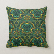 Juicy Jade 2 Throw Pillow