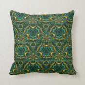 Juicy Jade Medium Repeat Throw Pillow
