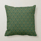 Juicy Jade Small Repeat Throw Pillow