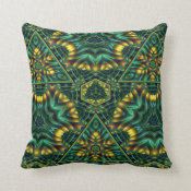 Juicy Jade Throw Pillow