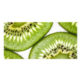 Juicy kiwi slices photo card