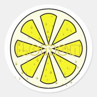 Juicy Lemon Round Stickers