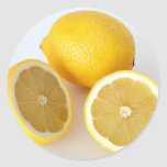 Juicy Lemonade  Lemon Drops Classic Round Sticker