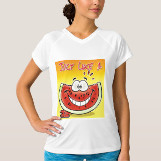 Juicy like a watermelon with background shirt