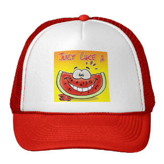 Juicy like a watermelon with background trucker hat