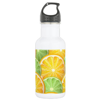 Juicy Lime and orange pattern Water Bottle