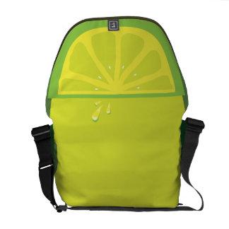 Juicy Lime Slice Twist Messenger Bag