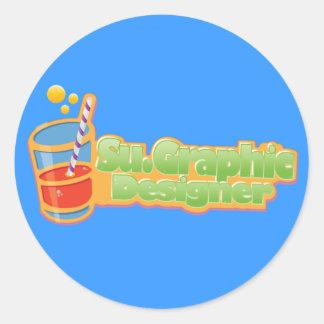 Juicy Logo Round Stickers