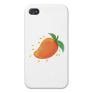 Juicy Mango Fruit Watercolor Cases For iPhone 4