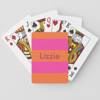 Juicy Orange and Hot Pink Personalized Cards Poker Cards