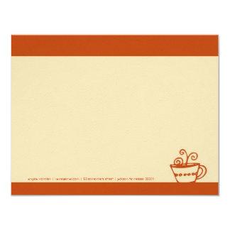Juicy Orange Coffee Cup Note Cards