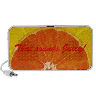 Juicy Orange Colorful Pattern Doodle Speaker.