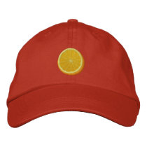 Juicy Orange Embroidered Hat
