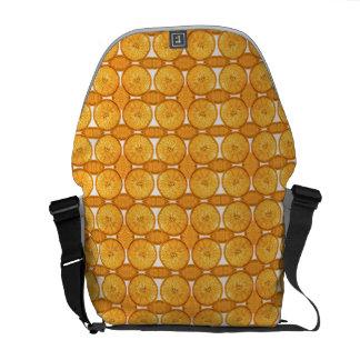 Juicy orange slice pattern messenger bag
