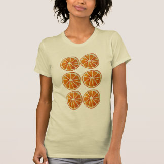 Juicy orange slice watercolor art pattern pop art tee shirt