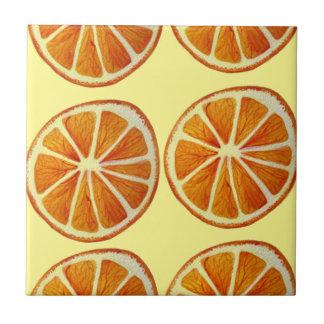 Juicy orange slice watercolor art pattern pop art tile