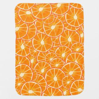 Juicy Orange Slices Baby Blanket