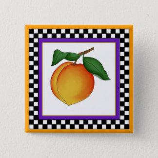 Juicy Peach and Checkerboard Square Button