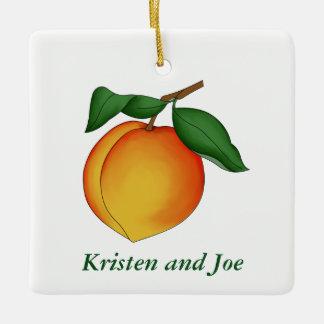 Juicy Peach Christmas Ornament