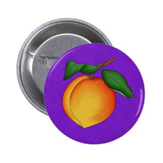 Juicy Peach & Purple Background Button