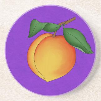Juicy Peach & Purple Background Coaster